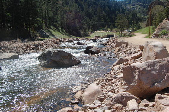 N. St. Vrain stream - After