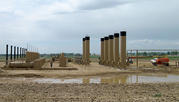 Oil Gas Fracking Installation