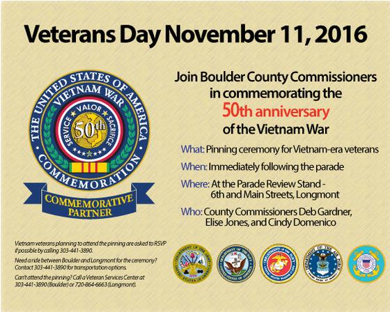 Invitation for the Vietnam Veterans Day pinning