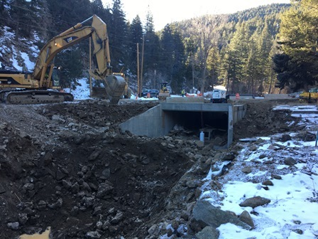 New culvert at Glendale Gulch