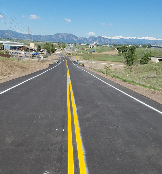 Reopened Dillon Road between US287 and 120th Street