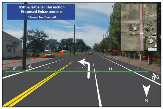 Project plan for intersection at 95th and Isabelle Road