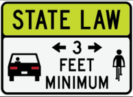 3 foot distance sign