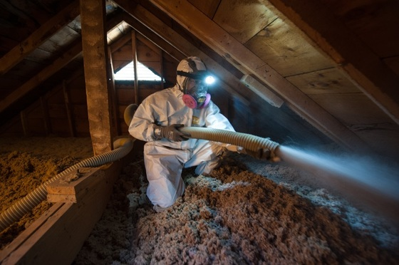 weatherization sprayer insulation