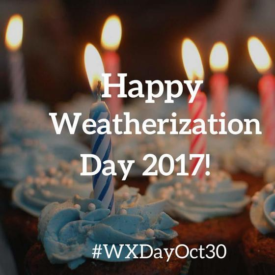 weatherization happy birthday cake graphic