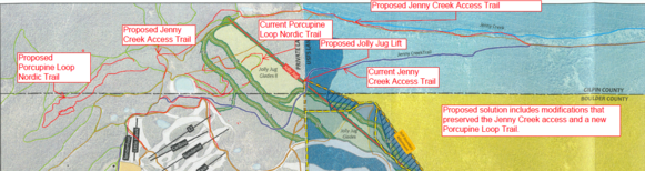 conceptual map of Eldora Mountain Resort expansion project