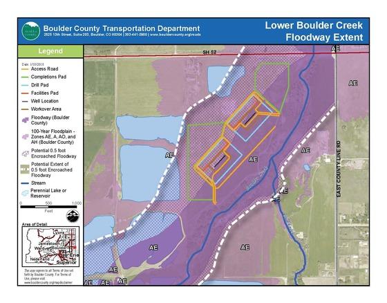Lower Boulder Creek Floodway Extent