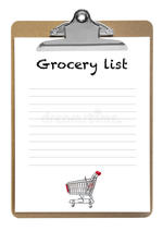 grocery list image