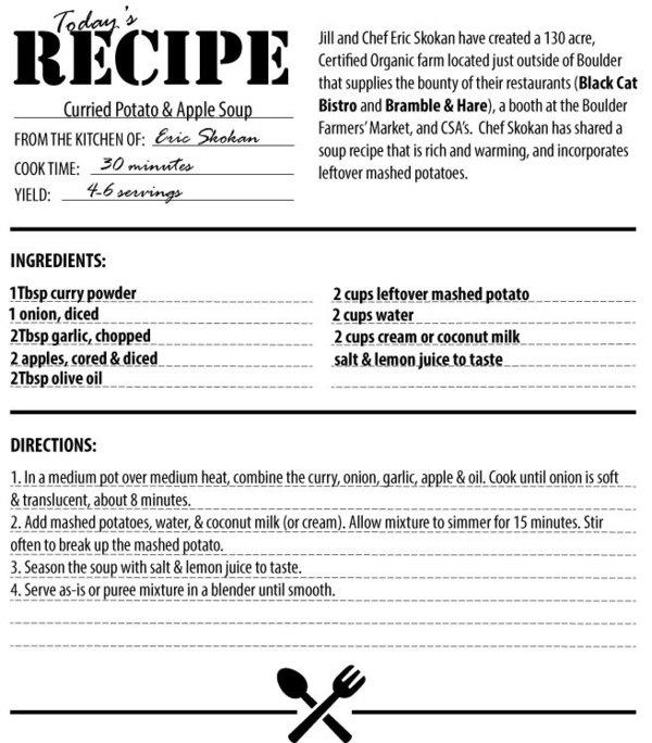 Thursday's recipe