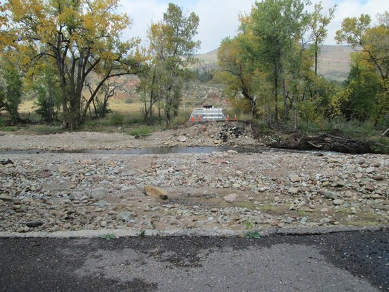 Old South St Vrain dmaged after 2013 Flood