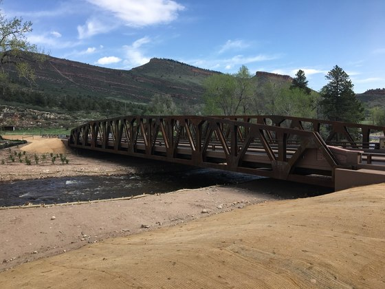 Old South St. Vrain Bridge repaired