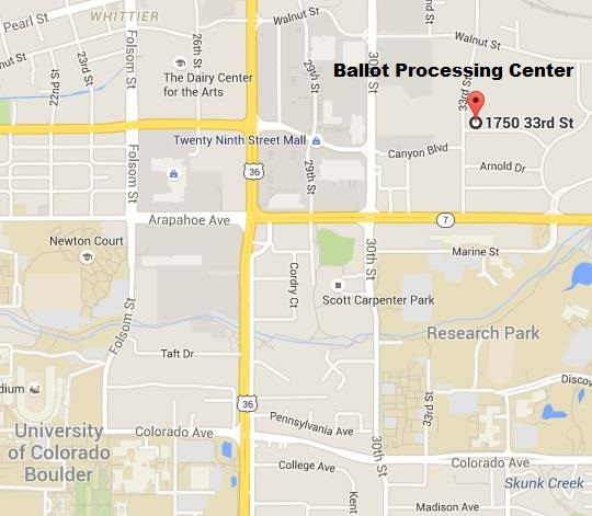 Ballot Processing Center Map