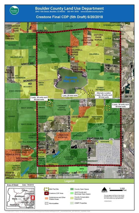 CDP Crestone Locations map