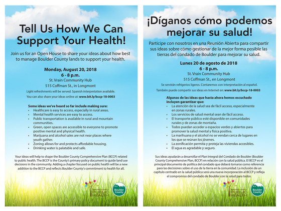 BCCP Public Health Element Flyer English Spanish