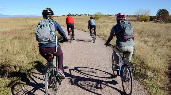 Bicycle riders Planning Month Bike Tour