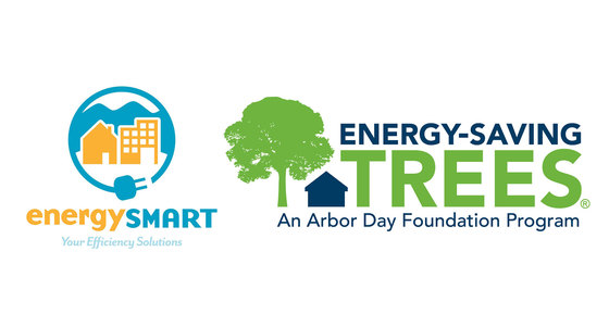 Logos for EnergySmart and Arbor Day Foundation