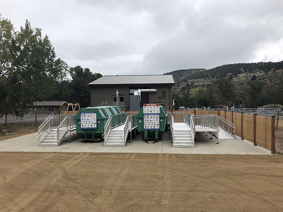 Photo of new Lyons recycling center