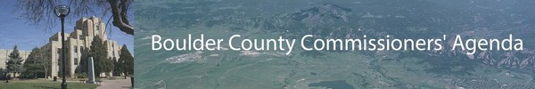 Banner image with Boulder County Courthouse and aerial photo of Boulder County