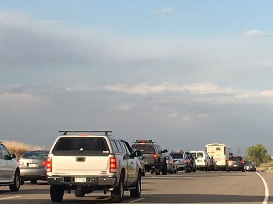 Traffic along SH 119