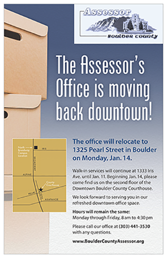 Poster of Assessor's move downtown