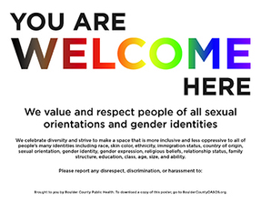 New Welcome sign for the LGBTQIA+ community
