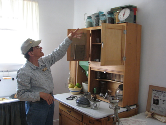 Volunteer docent a the AHC homestead