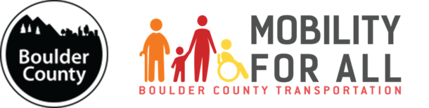 Mobility for All with Boulder County Logo