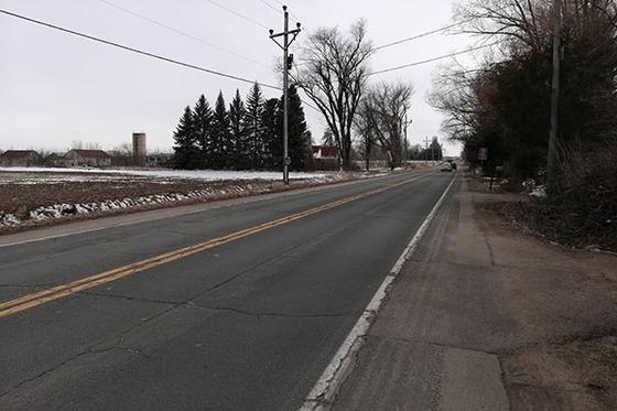 Poor stretch of 95th Street near Niwot