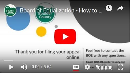 Opening screenshot of video showing BOE instructions