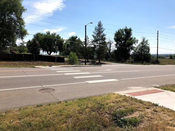 75th and S Heatherwood view of project site