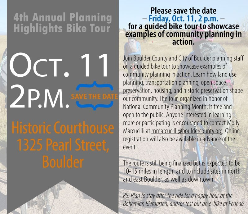 Invitation to the 4th Annual Planning Highlights Bike Tour