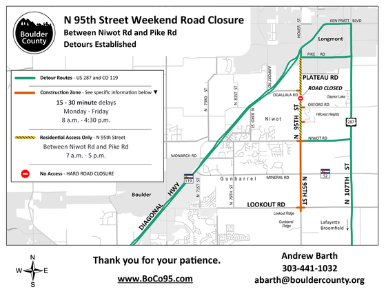 Map of 95th closure