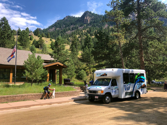 Bus at Eldorado Canyon State Park
