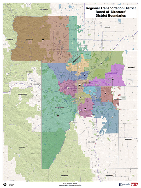 Map of all RTD districts
