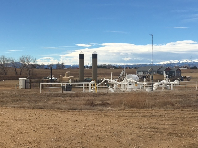 A small oil and gas distribution system on rural land