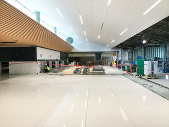 New flooring in ticketing pods