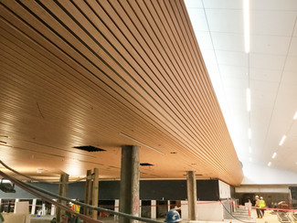 New ceiling in the ticketing pods