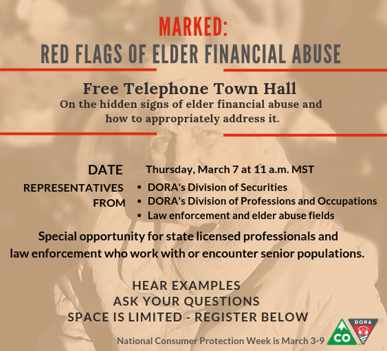 Telephone Town Hall Senior Financial Abuse March 7