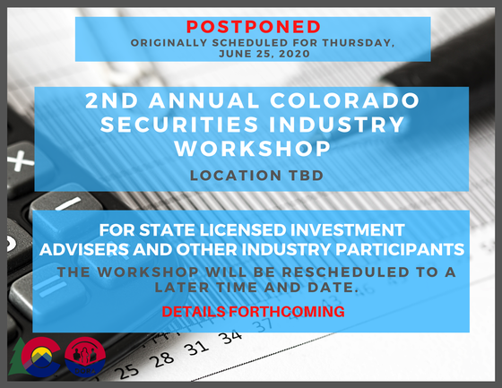 Securities workshop postponed, more details to come