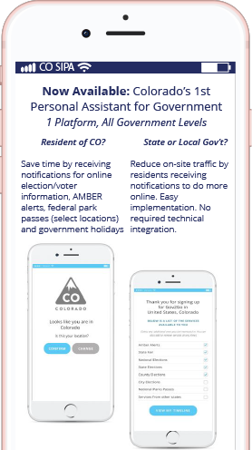 Gov2Go - the new CO Gov't assistant to help with renewals and reminders. Look for it in your smartphone store