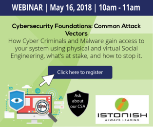 Webinar with Istonish Wednesday May 16, 10am-11am