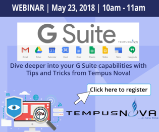 Webinar with Tempus  Nova, May 23, 10am-11am