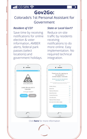 Download Gov2Go now and connect with CO government on your time, wherever you want