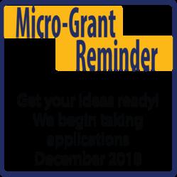 Micro-Grant Open in December