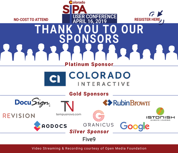 thank you to our user conference sponsors!