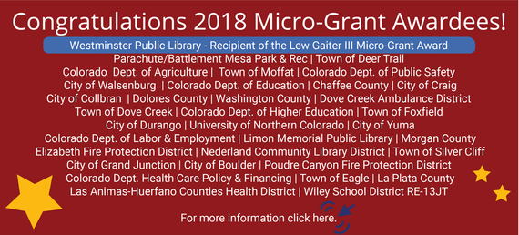 Micro-Grant Awardees for 2019