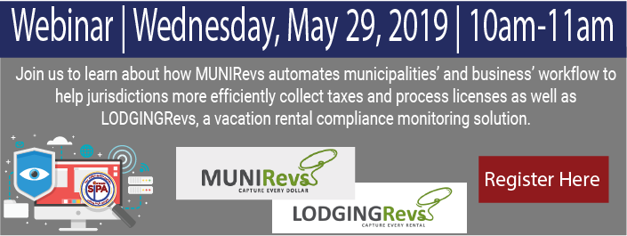 Webinar on May 29 with MUNIRevs