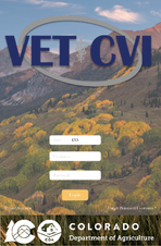 VET - CVI application front page image and Colorado brand with CDA
