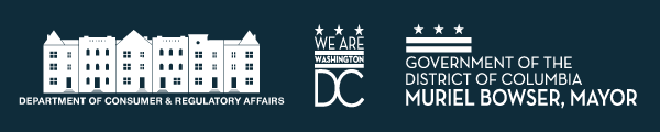 Department of Consumer and Regulatory Affairs banner