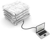 Laptop loading paper plans